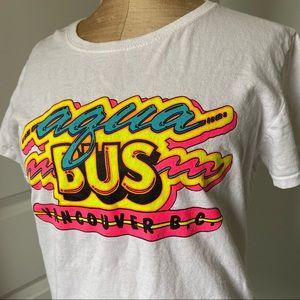 Vintage Vancouver aqua bus T-shirt